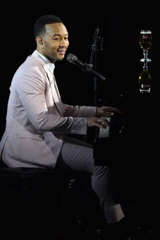 """John Legend premiering """"Under the Stars"""" at Skylight at Moynihan Station on December 2015 in New York John Legend, Now And Forever, Under The Stars, Music Icon, Fashion Pictures, New York City, Stella Artois, Singer, Concert"""