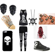 Skulls all the way by noely-jones on Polyvore featuring BERRICLE and Tarina Tarantino