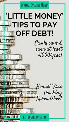 """""""Little Money"""" Saving + Earning Ideas: Easily Stash $1000+ Every Year   {Free Tracking Spreadsheet Download} Click through to find out how to use Little Money saving & earning ideas as tools to reach your financial goals.   http://www.fillingthejars.com"""