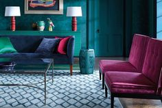1-wallpaper-cobalt-living-room-purple-blue-damask-zoffany-at-style-library