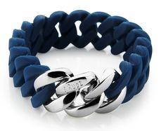bracelet mini - navy blue & silver - 15 mm - 42,50 €