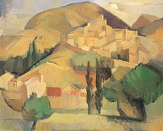 Grace Crowley  1890 - 1979    Mirmande  1928  oil on canvas    Art Gallery of South Australia