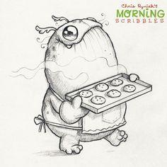 """""""Holiday Baking! #morningscribbles #christmas2015 ❄️"""""""