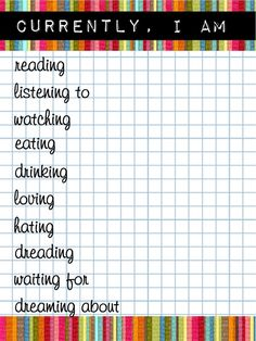Free Currently... List Journal Cards for Project Life from scrappystickyinkymess