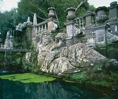 One of two river gods that flank a fountain at Villa Lante, the 16th-century garden near Viterbo in Italy. Michael Newton/Robert Harding World Imagery/Corbis