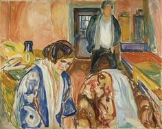 The Artist and his Model 1919–21 / Oil on canvas / 119,5 x 150 cm Munch Museum