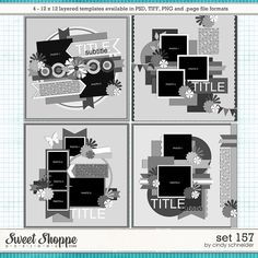 Cindy's Layered Templates - Set 157 by Cindy Schneider