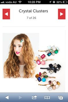 25 Shiny and Sparkly Hair Accessories for Party Season Beauty Makeup, Hair Makeup, Hair Beauty, Beauty Regimen, Party Hairstyles, Hair Day, Mom Style, Hair Jewelry, Hair Inspo