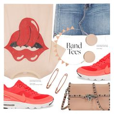 """""""I'm With the Band: Band T-Shirts"""" by meyli-meyli ❤ liked on Polyvore featuring MadeWorn, Frame, NIKE, Valentino and bandtees"""