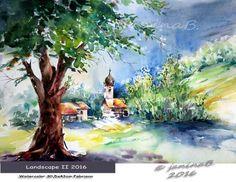 Landscape II 2016 / Watercolour 30,5x43cm Fabriano CP © janinaB. 2016