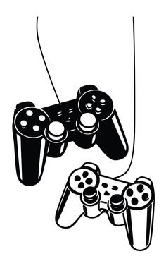 West Mountain Playstation Controllers Gaming Joystick Wall Decal Home Decor Art Vinyl Sticker Playstation, Art Vinyl, Game Wallpaper Iphone, Video Game Rooms, Video Game Decor, Image Digital, Kids Room Furniture, Game Room Design, Gamer Room