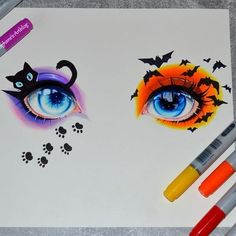 I draw this eyes Anime Art I draw this eyes - - Art Corner Halloween Illustration, Halloween Drawings, Eye Illustration, Anime Halloween, Halloween Eyes, Art Illustrations, Beautiful Drawings, Cute Drawings, Drawing Sketches