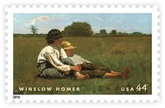 "Winslow Homer's 1874 oil-on-canvas  ""Boys in a Pasture"" recall America's nostalgia for a simpler time."