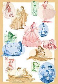 The Disney Princesses Art Print