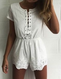 #summer #fashion / crochet playsuit