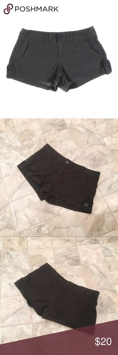 NWOT MILEY CYRUS & MAX AZRIA linen shorts NWOT MILEY CYRUS & MAX AZRIA black shorts | linen blend | cuffed - tabs on sides to hold cuff in place | size 9 | inseam is 2"