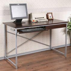 PChome線上購物 - 24h 購物《YoStyle 時尚單抽電腦桌-120cm(胡桃)》
