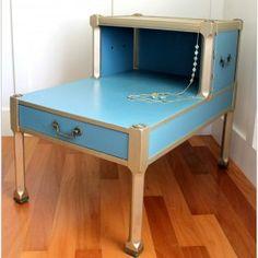 http://www.artsychicksrule.com/2014/03/turquoise-chalk-paint-gold-metallic-makeover.html