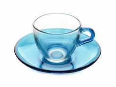 This bright Arcobaleno Demi Cup & Saucer 90ML Blue is great for a colourful espresso!