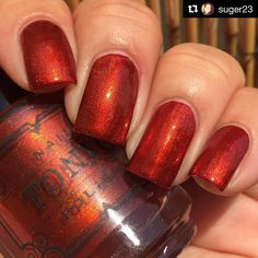 Tonic Polish: Lava Lust ... the perfect red orange shimmer polish