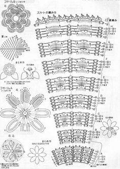 How to link openwork crochet skirt