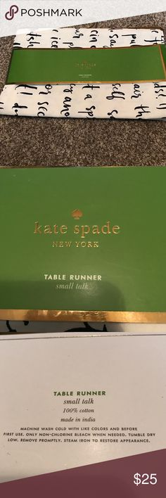 Kate Spade Kate Spade table runner French navy (small talk)    15 x 90 in (38 x 229 cm) kate spade Accessories