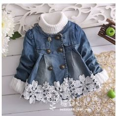 Girls fashion lace long sleeved jacket denim jacket girls coat children outerwear Children's cloth autumn princess baby cardigan-in Jackets & Coats from Kids & Mothercare on Aliexpress.com | Alibaba Group