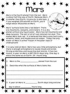 Solar System Science Unit - Reading Passages and Posters!Astronomy Solar System Science Unit - Reading Passages and Posters! Solar System Facts, Solar System Worksheets, Solar System Activities, Science Worksheets, Science Lessons, Science Experiments, Elementary Science, Science Education, Science Labs