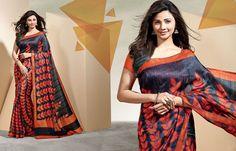 Simple, Formal and Heavy Cotton Saree available at Maysha Fashion Cotton Sarees Online Shopping, Daisy Shah, Party Sarees, Bollywood Party, Art Silk Sarees, Printed Linen, Awards, Sari, Indian