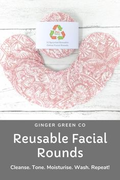 Reusable cotton facial rounds. Use the super soft cotton flannel side to cleanse and tone, and the cotton towelling side for gentle exfoliation. Then throw in the washing machine and use again and again! Gentle on you and the planet. Available in a range of designs with optional wash bag. Reusable Facial Rounds / Cotton Pads / Make Up Wipes / Zero Waste / Eco Friendly Cotton Pads, Cotton Towels, Make Up Remover, Eye Makeup Remover, Wash Your Face, Wash Bags, Zero Waste