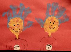 thing 1 and thing 2 for dr. seuss
