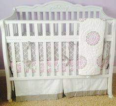 Dahlia Pottery Barn Nursery Bedding Lilac And Gray Our New Home Pinterest Babies
