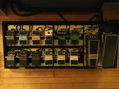 MKS pedalboard with mostly Boss pedals