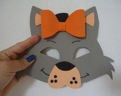Máscara de Gata com laço