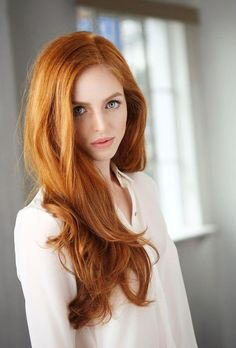 Thick natural red hair