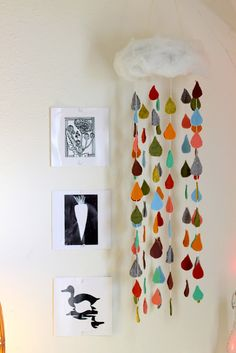 diy baby mobile raindrops