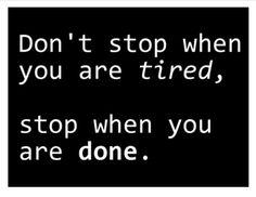 Stick to goals!