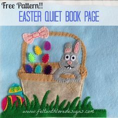 Easter Quiet Book Page Free Pattern! {Felt With Love Designs}