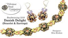 Danish Delight (Bracelet & Earrings Tutorial)