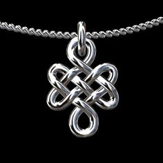 Own a buddhist love knot necklace :)