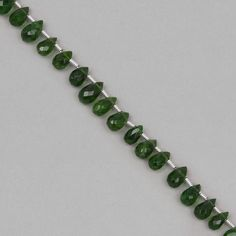 Add this strand of Chrome Diopside Faceted Drops to your collection to create some truly unique & eye catching designs.