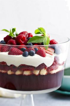 The clue is in the name. This is, no question, the ultimate berry trifle. It is perfect for any special occasion. Recipe by the Australian Women; Christmas Trifle, Christmas Dishes, Christmas Cooking, Christmas Desserts, Yummy Treats, Delicious Desserts, Sweet Treats, Dessert Recipes, Yummy Food