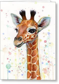 Kinderzimmer Kunst Dekor, Giraffe Kunst, Giraffe Print, Baby Giraffe Aquarell, T. Giraffe Painting, Giraffe Art, Giraffe Nursery, Animal Nursery, How To Draw Giraffe, Girl Nursery, Zebra Art, Jungle Nursery, Nursery School