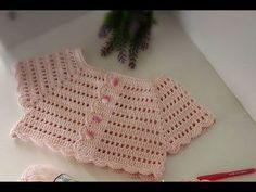 Tığ İşi Pembe Prenses Bebek Elbisesi -3 - YouTube