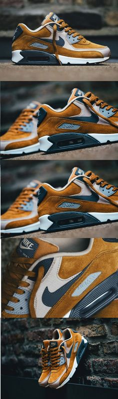 Nike Air Max 90 PRM Desert Ochre #Sneakers #Zapatillas These are mine!!! http://feedproxy.google.com/fashiongoshoes