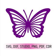 Butterfly SVG cutting file and butterfly DXF cut file /SVG Butterfly Stencil, Butterfly Drawing, Butterfly Template, Butterfly Crafts, Flower Template, Butterfly Wings, Crown Template, Butterfly Mobile, Card Patterns