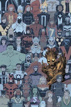 Groot 13Perdido y sin que nadie pueda entender nada de lo que sale de su boca, Groot ha emprendido un viaje por traer de vuelta a su amigo Mapache Cohete. Con una estrella invitada que no te puedes ni siquiera imaginar. Puede que Groot parezca muy intimidante, pero puedes creernos que sólo lo es en la superficie.
