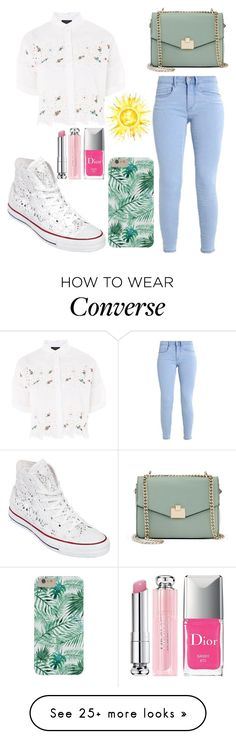 """Untitled #292"" by razanrozzy on Polyvore featuring Topshop, Converse, Jennifer Lopez and Christian Dior"