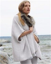Product Image of Faux-fur trimmed cape