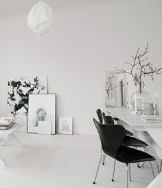 It's no surprise the Swedes turn towards monochrome artwork, like in this Gothenburg home, considering the rest of their house tends to stay in the realm of black and white. Not that America will soon turn so stark, but we'd love to see this graphic artwork interspersed amongst more colorful pieces.  Read more at ELLEDecor.com: Bing Crosby's Moroccan-Inspired Home Could Be Yours For $5 Million   - HarpersBAZAAR.com